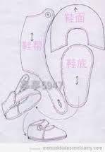Resultado de imagen para patrones de zapatos para la American Girl Doll hechos con fieltro