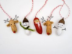 Easy, inexpensive and edible ornaments!  Snowmen need work - too scary!