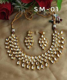 Indian jewelry kundan fancy earrings necklace jewelry for lehenga choli crop top skirt sabyasachi jewelry ring bracelet Christmas wedding
