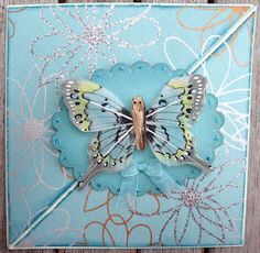Easel card with butterfly