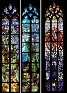 wyspianski Fused Glass, Glass Beads, Blown Glass, Glass Etching, Etched Glass, Best Windows, Stained Glass Projects, Stained Glass Windows, Architecture