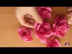 How to make a rose with tissue paper (quick and easy) - YouTube