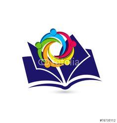 Vector: Teamwork book logo