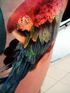 Wow!. | tattoo by Ignacio Oanes, via Flickr.
