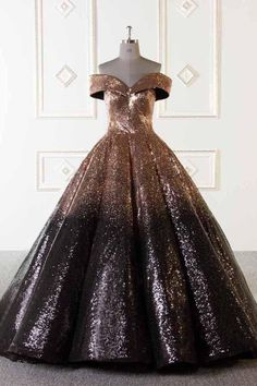 Luxury Sparkly Ball Gown Dresses Ombre Sequins Floor Length Prom Evening Dresses This dress is very cheap and good quality. It can be made with custom sizes and color. Ombre Prom Dresses, Cheap Prom Dresses, Quinceanera Dresses, Wedding Dresses, Ball Gowns Prom, Ball Gown Dresses, Dresses Dresses, Formal Dresses, Fashion Dresses