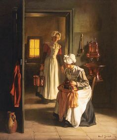 Preparations in the Kitchen ~ Claude Joseph Bail ~ (French: 1862-1921):