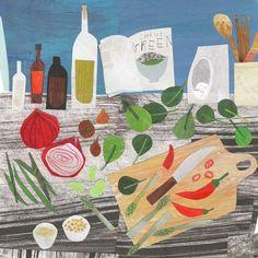 """Wells next the sea and Holkham trees. Food Collage, Paper Collage Art, Paper Art, Cut Paper, Collage Illustration, Food Illustrations, Arte Popular, Tropical Art, Magazine Art"