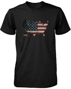 6223cd3031cfe4 4th Of July US Flag Map Men s Black T-shirt California Republic Flag