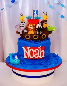 Noahs Ark Birthday Cake SweetEs Bakeshop Kidscake Birthdaycake Noahsarkcake Animalcake