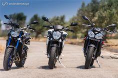 Comparativo MV Agusta Brutale 675 / Triumph Street Triple R / Yamaha MT09 - Tricilíndricas Naked de média cilindrada - Test drives - Andar de Moto