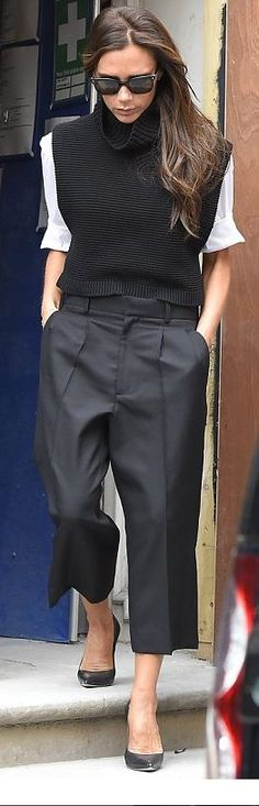 Victoria Beckham Love pants with shoes