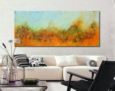 Arte de la pintura azul de arte abstracto pintura por BuyWallArt