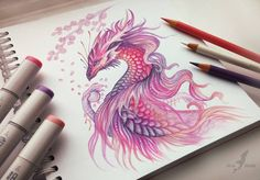 Color Pencil Drawing dragon color pencil drawing - Color Pencil Drawings: Color pencil drawings are a fantastic medium to work on. Depending on the brand and quality of pencils, you can find them in different prices. Once you master five techniques i Pencil Drawing Tutorials, Pencil Drawings, Art Drawings, Drawing Ideas, Drawing Tips, Pencil Sketching, Realistic Drawings, Fantasy Drawings, Fantasy Art