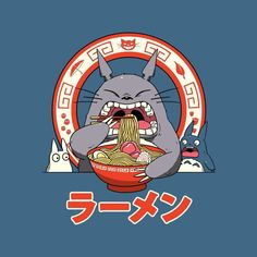 My Neighbor Totoros Ramen Men& T-Shirt by Vincent Trinidad - Cloud City 7 Japanese Pop Art, Japanese Graphic Design, Japon Illustration, Japanese Illustration, Studio Ghibli Art, Studio Ghibli Movies, My Neighbour Totoro, Photo Deco, Arte Horror