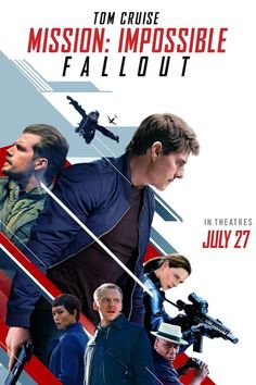 Tom Cruise, Ving Rhames, Henry Cavill, Rebecca Ferguson, and Simon Pegg in Mission: Impossible - Fallout Mission Impossible Fallout, Mission Impossible Series, 2018 Movies, Hd Movies, Movies Online, Netflix Movies, James Bond, Fallout Movie, Spider Man