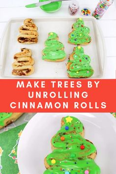 Are these not the cutest Christmas breakfast idea? Unroll your cinnamon rolls and make them into Christmas tree shapes! Are these not the cutest Christmas breakfast idea? Unroll your cinnamon rolls and make them into Christmas tree shapes! Christmas Snacks, Christmas Brunch, Noel Christmas, Christmas Goodies, Holiday Treats, Holiday Recipes, Christmas Recipes For Kids, North Pole Breakfast, Breakfast For Kids