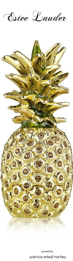*Estee Lauder Limited Edition Beautiful Golden Pineapple Solid Perfume