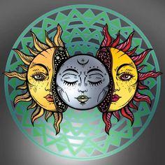 Indie Drawings, Pencil Art Drawings, Moon And Sun Painting, Sun And Moon Drawings, Cosmic Art, Moon Illustration, Sun Art, Goddess Art, Colorful Drawings