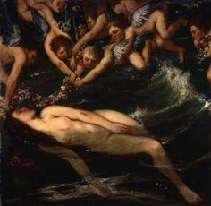 "sakrogoat: "" Charles Haslewood Shannon - The Birth of Venus """