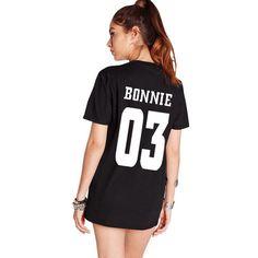 Valentine Shirts Women/Men Bonnie 03 CLYDE Couples Leisure Cotton Short Sleeve T-shirt