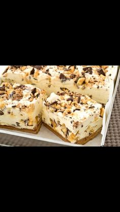 Crunchy fridge tart