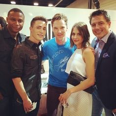 """""""#SDCC One of my idols, Benedict Cumberbatch"""" 