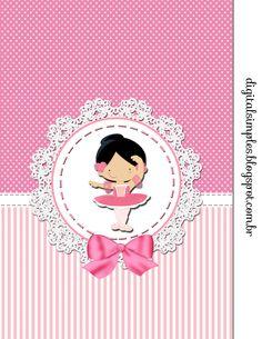 Festa Bailarina Rosa, rótulo Caçulinha Bailarina Rosa, caixinhas, sacolinhas, caixa Milk Bailarina Rosa. Ballerina Party, Balerina, Baby Scrapbook, Peppa Pig, Felt Crafts, Minnie Mouse, Alice, Baby Shower, Invitations