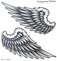Fake tattoos hot selling fashionable large Angel wings temporary tattoo sticker for women and man >>> For more information, visit image link. Note:It is Affiliate Link to Amazon.