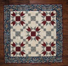 Quilted Table Topper Wall Hanging Americana Table by HollysHutch