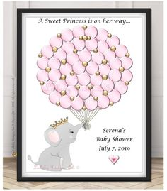 Baby Shower Elephant Theme Girl Wall Art 70 New Ideas Elephant Nursery Art, Elephant Theme, Elephant Baby Showers, Baby Elephant, Safari Nursery, Girl Nursery, Baby Shower Balloons, Baby Shower Themes, Baby Shower Decorations