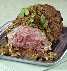 Photo de la recette : Rôti d'agneau aux herbes