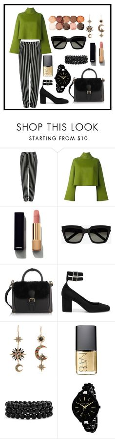 """Leaf"" by asena-cakmak on Polyvore featuring Glamorous, Bally, Chanel, Yves Saint Laurent, Burberry, Roberto Cavalli, NARS Cosmetics, Bling Jewelry, Michael Kors and NYX"