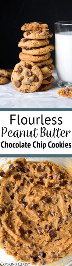 Flourless Peanut Butter Cookies - These are the easiest cookies to make! They only need 6 ingredients that you likely always have on hand, a few minutes prep, and no mixer is required. And did I mention they taste absolutely delicious? Likely to become a family favorite! #flourless #peanutbuttercookies #dessert #cookies #easyrecipe via @cookingclassy