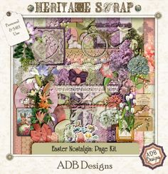 Easter Nostalgia Page Kit by ADB Designs
