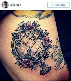 world globe tattoo