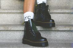 "Dr. Martens ""Jadon"" - 8 eye platform boots. You can just never have too many black boots."