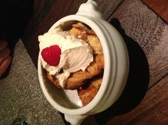 Bulliet bourbon challah bread pudding with creme anglaise. Challah Bread Pudding, Bourbon, Delicious Food, Nom Nom, Sweet Tooth, Oatmeal, Goodies, Baking, Healthy