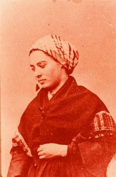 Bernadette when she joined the convent in Nevers south of Paris. St Bernadette Of Lourdes, Santa Bernadette, Catholic Saints, Roman Catholic, St Bernadette Soubirous, Lourdes France, Our Lady Of Lourdes, French History, Saint Quotes