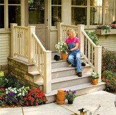 Outdoor Steps Porch Steps And Front Porch Steps On Pinterest