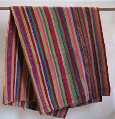 Handwoven Peruvian blanket