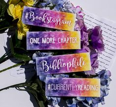 Bibliophile, One More Chapter, -or- Bookmark- Bookish gifts Bookmarks Quotes, Bookmarks For Books, Creative Bookmarks, Cute Bookmarks, Bookmark Craft, Bookmark Ideas, Watercolor Bookmarks, Watercolor Cards, Diy Marque Page