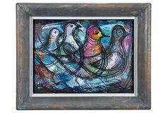 Forrest Hibbits Oil Painting, Dove on OneKingsLane.com