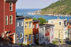 Colorful Houses on Victoria Street, Avalon Peninsula, St. John's, Newfoundland - Yves Marcoux/First Light/Getty Images