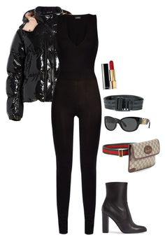 """TRAVEL"" by miahkidd41 ❤ liked on Polyvore featuring Moncler, La Perla, Off-White, Steve Madden, Chanel, Versace and Gucci"