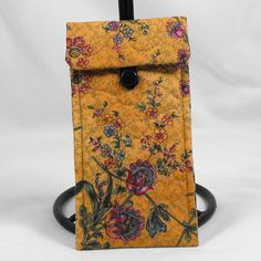 Quilted Eyeglass Case Sunglass Case  Flowers on by ByAThreadVt, $20.00