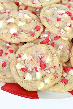 These peppermint white chocolate pudding cookies are chewy, perfectly sweet and make for a festive Holiday treat!