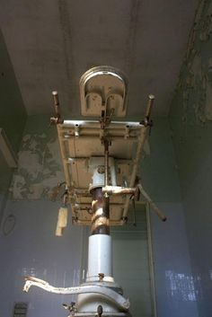 Examination table viewed from below