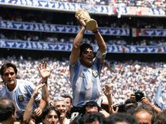 Argentina celebrate the World Cup trophy