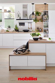 Nobilia Kitchen, Home Decor Kitchen, Small Apartment Design, Small Apartments, Modern Kitchen Design, Home And Living, Sweet Home, House Design, Interior Design