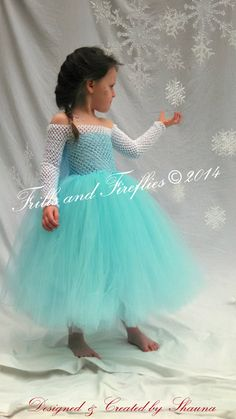 Elsa Frozen tutu Costume, Halloween, Birthday Party, $68 Photo Shoots, Sizes 2t up to size 6, Larger Available upon request!